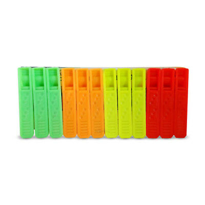 Best Plastic Clothing Pegs Clips Clothes Pins 12 Pc Assorted Colors Clothes