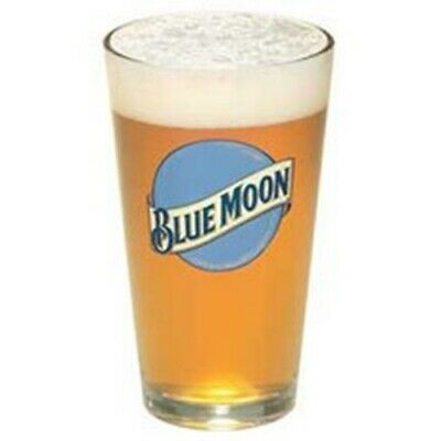 Blue Moon Beer Pint Glass | Set of 2 Glasses Beer Pint Glass Set
