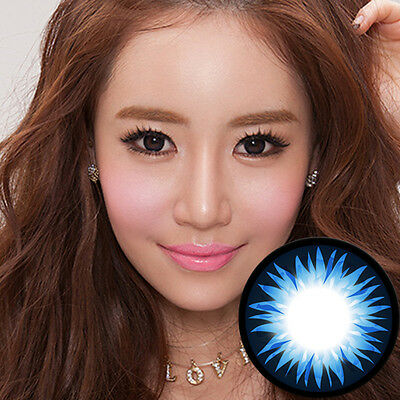 Blau Farbige Kontaktlinsen Color Contact Circle Lenses DIA14.2mm BeSBl