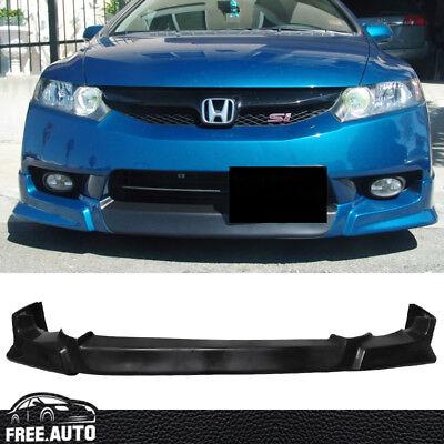 4dr Bolt (Fit For 09 - 11 Honda Civic Sedan 4DR Front Bumper Lip Spoilers Poly Urethane PU )
