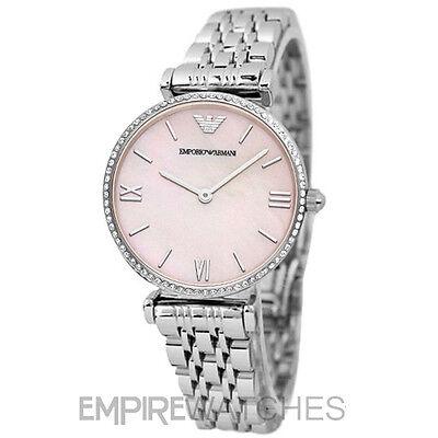 *NEW* EMPORIO ARMANI LADIES GIANNI T-BAR DIAMONTE WATCH - AR1779 - RRP £329