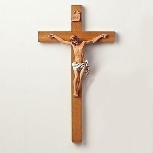 Large Wall Crucifix Jesus Christ Wooden Cross Church Crosses Christian ...