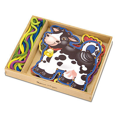 Melissa and Doug * Lace & Trace Farm Animals * NEW classic toy creative activity