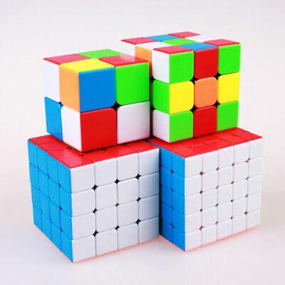 Qiyi 2x2 3x3 4x4 5x5 Magic Cube Stickerless Speed Twist Brain Teasers UK SELLER
