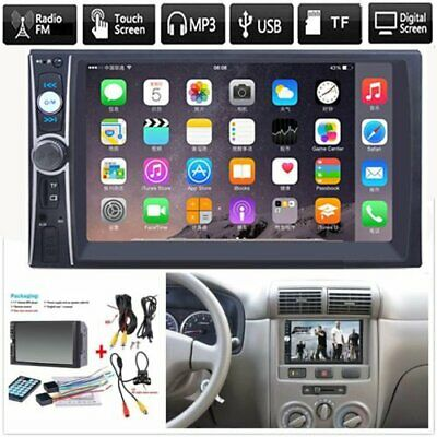 """2 DIN 7"""" HD Car Stereo Radio MP5 Player Bluetooth Touch Screen+Free Rear Camera"""