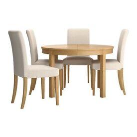 Ikea BJURSTA extendable table.