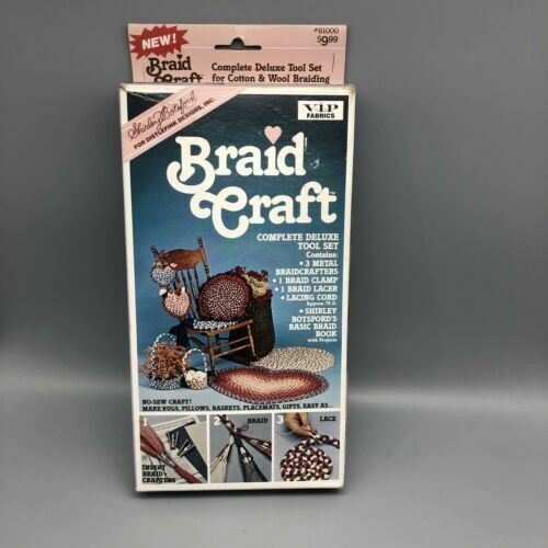 Shirley Botsford Braid Rug Craft Kit 1987 Deluxe Tool Set #81000 (new open box)