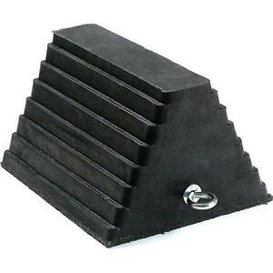 Rubber Wheel And Tire Chock For Trucks, Trailers, Containers