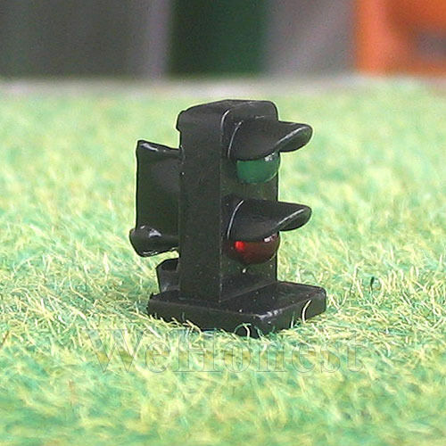 4 x HO / OO scale 2 aspects railroad LED dwarf signals block signaling Green/Red