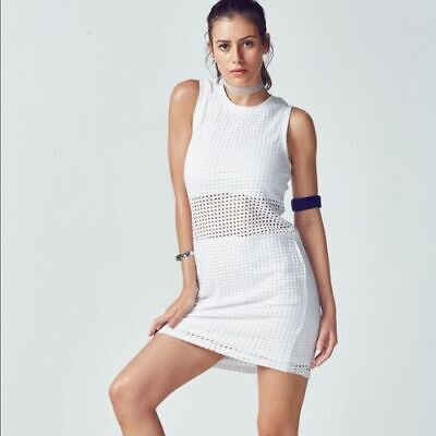NWT - FABLETICS Women's BRYCE'SPORTY SLEEVELESS DRESS - S White