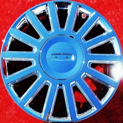 """EXCHANGE SET OF 4 NEW CHROME 17"""" LINCOLN TOWN CAR OEM FACTORY WHEELS RIMS 3504"""
