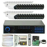 Security Surveillance System 32 Channel 24 Camera 4TB Hard Drive