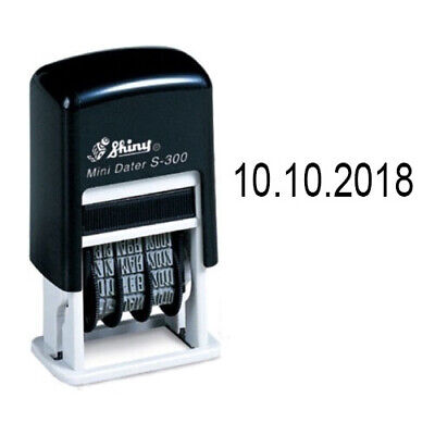 Self Inking Stamper (Shiny Mini Dater S-300 Self Inking Date Stamper DD.MM.YYYY 2 Year)