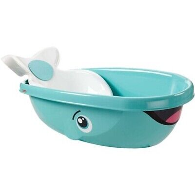 Fisher-Price Whale of a Tub with Removable Baby Seat Bath Newborn Boy Girl New