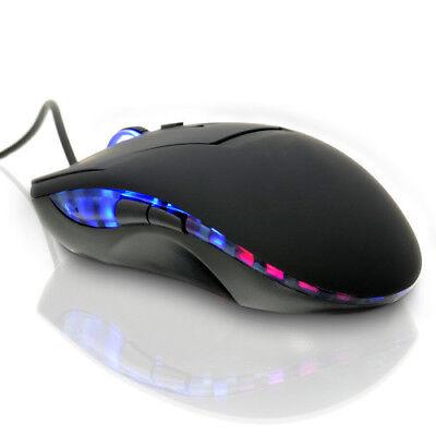 USB Gaming Maus Optische Mäuse PC Computer Laptop 6 Tasten 2400DPI LED
