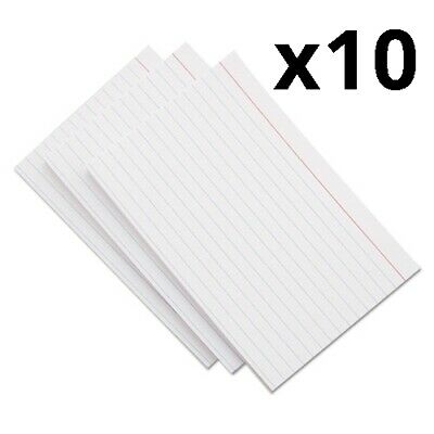 Ruled Index Cards 3 X 5 White 500pack Pack Of 12