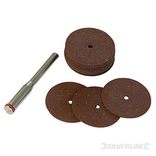 18PC 22mm Resin Cutting Cut Off Discs Rotary Tool Fits Most 3600 Small Drill Bit