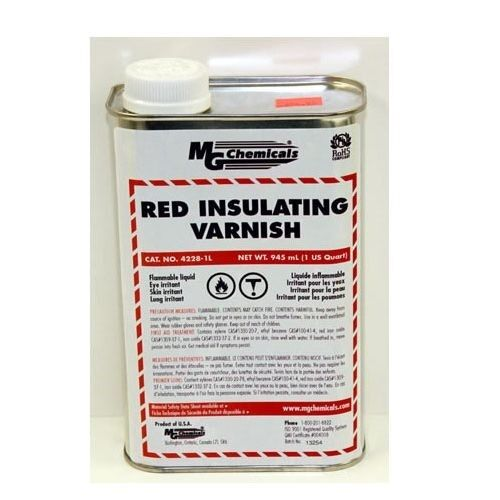 MG Chemicals 4228-1L Red GLPT Insulating Varnish 1 Liter Bottle