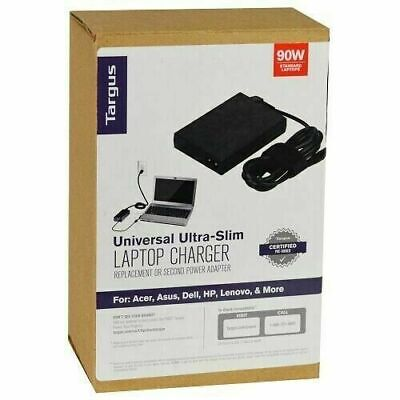 Targus 90W AC Ultra-Slim Universal Laptop Charger Adapter APA790USO