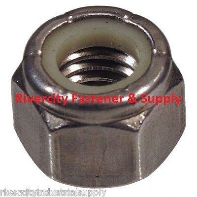 25 14-20 Coarse Thread 18-8 Stainless Steel Nylon Insert Lock Stop Nut