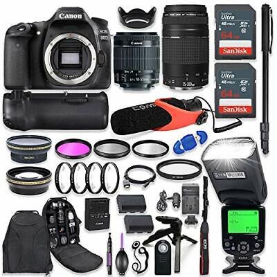 Canon EOS 80D DSLR Camera with (2) Lenses + Advanced Professional Bundle