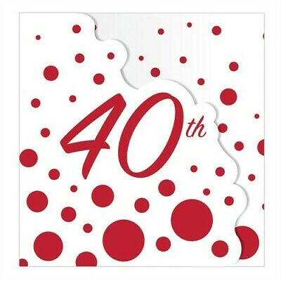 Sparkle and Shine Ruby 40th Anniversary Invitations Anniversary Party Decor (40th Anniversary Invitations)