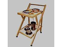 Folding Wooden Lightweight Tea Trolley