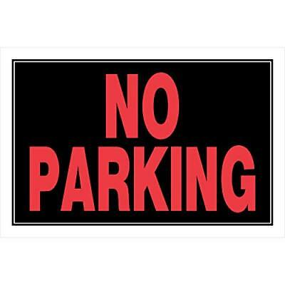 Hillman 839902 No Parking Sign Black And Red Plastic 8x12 Inches 1-sign