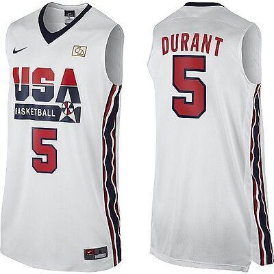 05cea1b93c9f NIKE Original Sawn Kevin Durant 5 2012 Dream Team Olympics Retro Jersey XXL