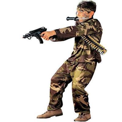 Kinder Kostüm KÄMPFER Gr.M 140 für 8-10 Jahre Special Force Soldat Polizist 3840 ()