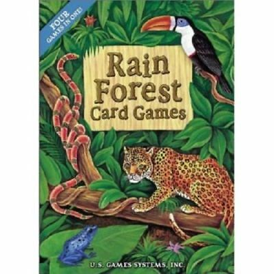 Rain Forest Card Games  Four Games In One  Brand New  Sealed Box  Free Shipping