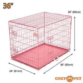 Pink dog cage. brand new. 36 inch. crate. kennel.