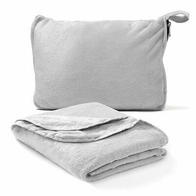 Travel Blanket Pillow Compact 40 x 60 – Choose Color Travel
