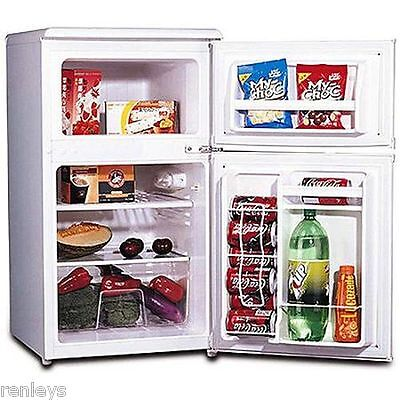 Igloo 2 Door 3.2 cu ft Refrigerator Freezer Capacity Compact Fridge Cooler White