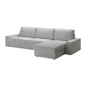 IKEA SOFA AND CHAISE COMBO