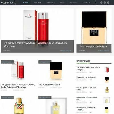 Perfume Store - Professionally Designed Affiliate Website For Sale Domain
