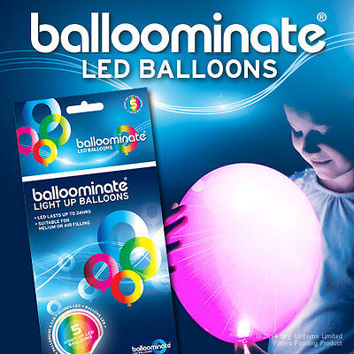 Pink Led Balloons (PINK LED Balloons - Pink LED light up balloons - 5 Pack - All)