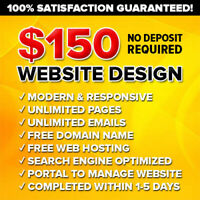 $150 ❌ TOP RATED WEB DESIGN ❌ NO PAYMENTS until 100% SATISFIED