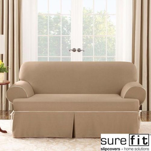 Loveseat Slipcover T Cushion Ebay
