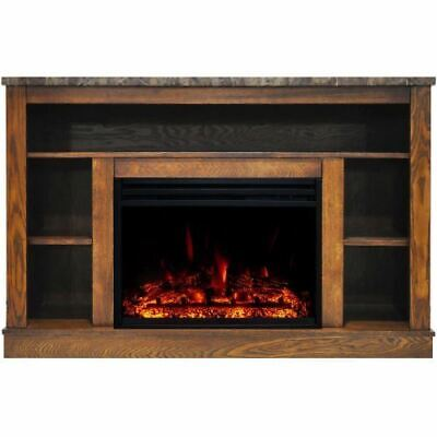 """Cambridge Seville Electric Fireplace Heater with 47"""" Walnut"""