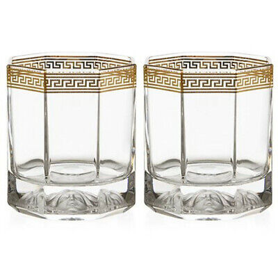 ROSENTHAL VERSACE MEDUSA LUMIERE D'OR WHISKEY SET 2PCE RRP$449