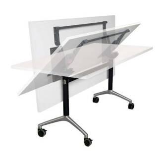 Office Table Mobile Folding Flip Top Eiffel Meeting lock & Stack