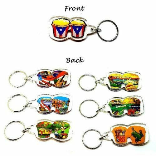LOT OF 3 Puerto Rico CONGA Key Chain Holder Souvenirs Rican holder WHOLESALE