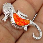 Orange Fire Opal Pendant