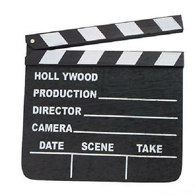 HOLLYWOOD MOVIE CLAPBOARD CLAPPER DIRECTOR MOVIE TV SIGN #ST28 Free Shipping - Movie Director Clapboard
