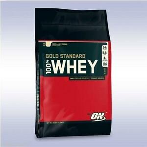 OPTIMUM NUTRITION GOLD STANDARD 100% WHEY (10 LB) proteine isolate powder bcaa on