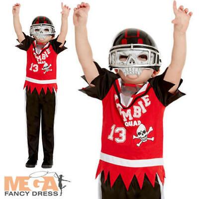Zombie American Football Player Boys Fancy Dress Halloween Sports Kids Costume (Sport Player Kostüme)