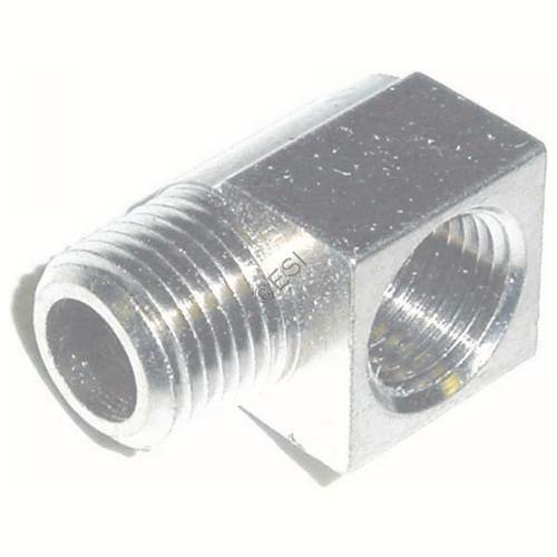 Empire 1/8th Inch NPT 90 Degree Gas Line Elbow - Nickel Plated