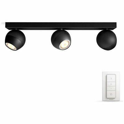 Philips Hue Buckram 230V Bar Ceiling Spotlights - Black