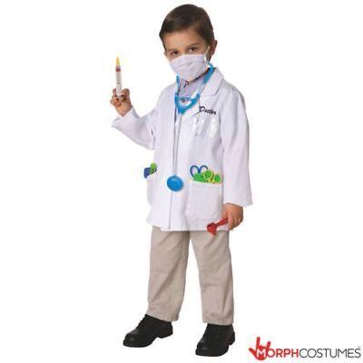 Boys Girls Doctor Nurse Lab Coat Fancy Dress Costume 12 Piece Kit incl Mask - Nursing Costumes